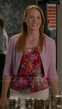 Daphne's floral triangle cutout out wrap top on Switched at Birth