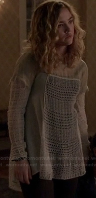 Jo's crochet longsleeve top on Twisted