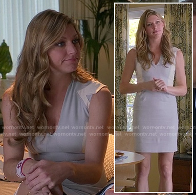 Josslyn's grey and white colorblock mini dress on Mistresses