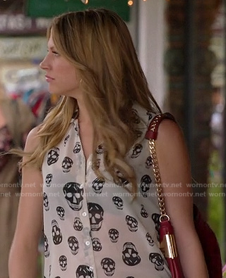 Josslyn's skull print blouse on Mistresses
