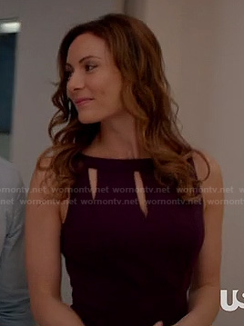 Marissa's purple cutout dress on Royal Pains