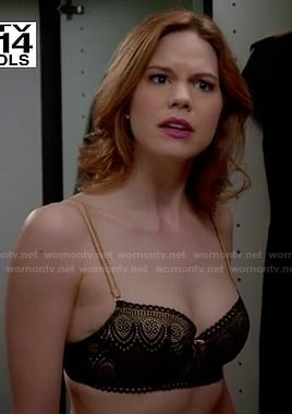 Peri's black and gold lace bra on Devious Maids
