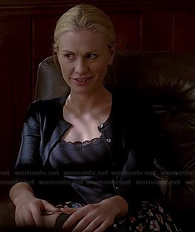 Sookie's black floral skirt on True Blood