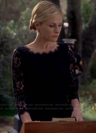 Sookie's black lace dress on True Blood
