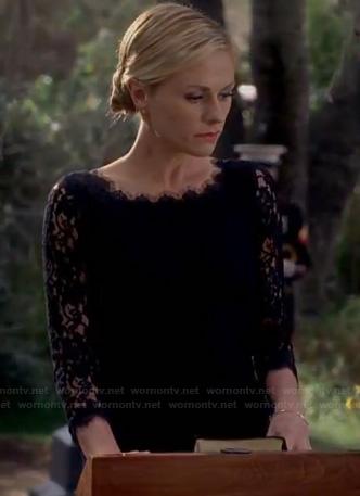 Sookie's black lace dress on True Blood