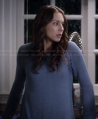 Spencer's blue sweater on Pretty Little Liars