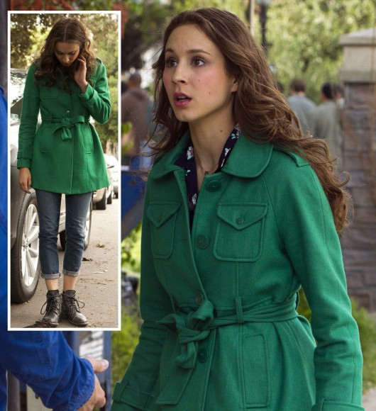 Spencer's green coat on PLL