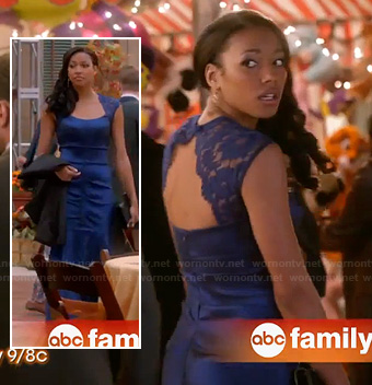 Lacey's blue lace back gown at the formal on Twisted