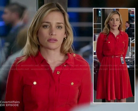 Annie's red shirtdress on Covert Affairs