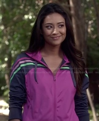 Emily's purple track jacket on Pretty Little Liars