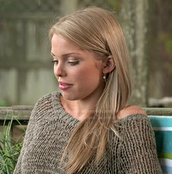 Emily's open knit sweater on The Vineyard