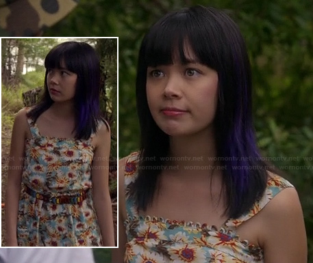 Grace's floral dress on Camp