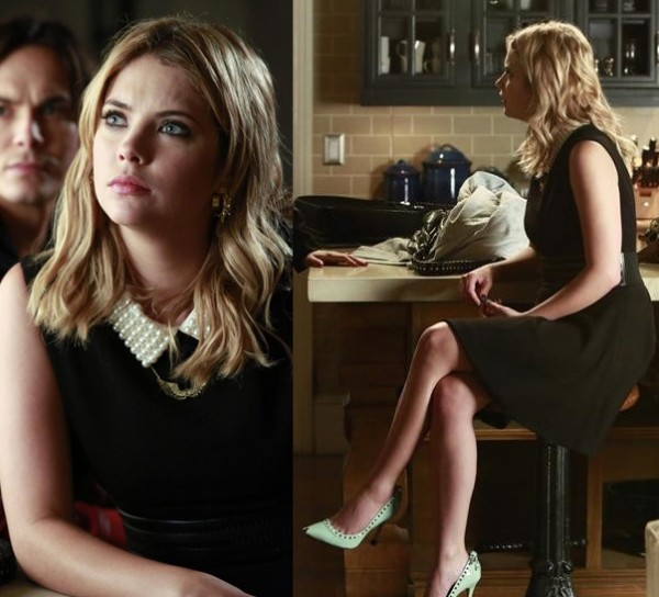 Hanna's pearl collared dress on PLL