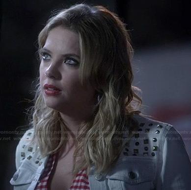 Hanna's studded denim jacket on PLL