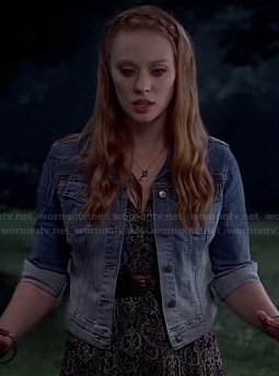 Jessica's ombre denim jacket on True Blood
