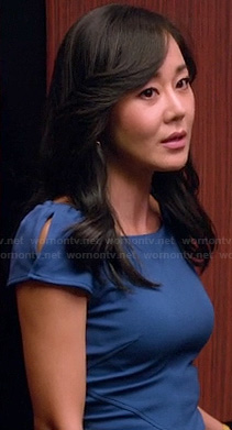 Karens blue cap sleeve dress on Mistresses