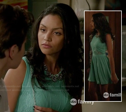 Lexi's teal green lace dress on The Fosters