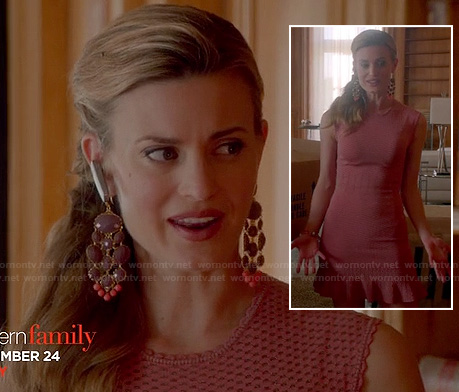 Paige's pink ruffled dress on Royal Pains