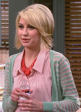 Riley's green striped cardigan on Baby Daddy
