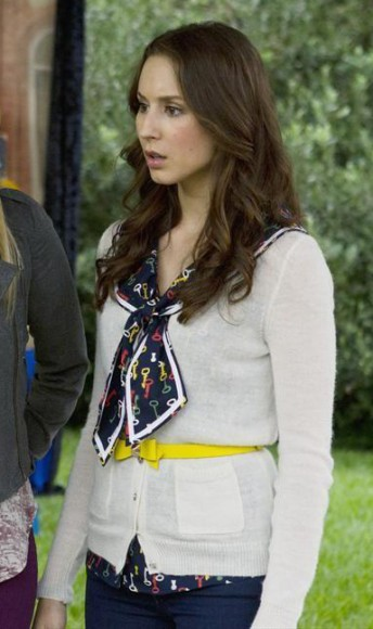 Spencer's key print bow tie  top on PLL