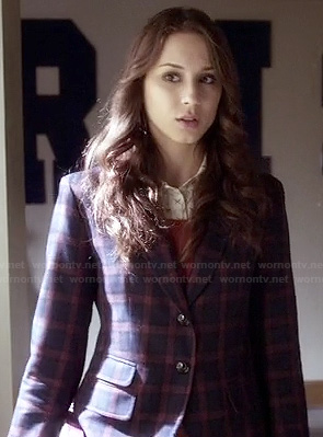 Spencer's plaid blazer on Pretty Little Liars