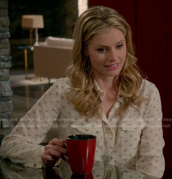 Taylor's cross pattern shirt on Devious Maids