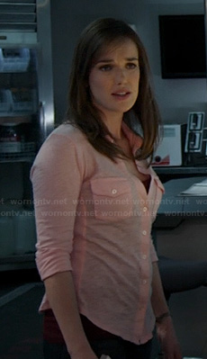Jemma's pink button front shirt on Agents of S.H.I.E.L.D
