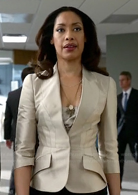 Jessica's champagne blazer on Suits