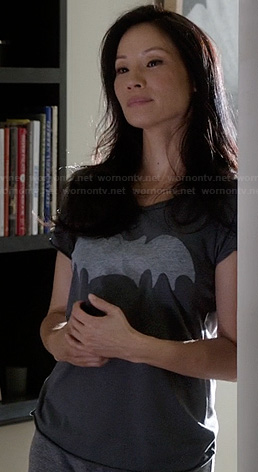 Joan Watson's bat tshirt on Elementary