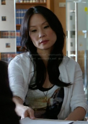 Joan's car graphic tee on Elementary