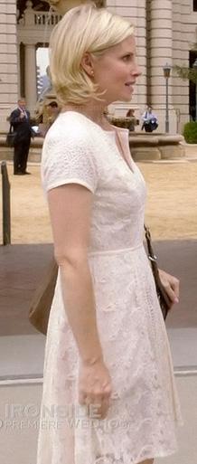 Kristina's white lace dress on Parenthood