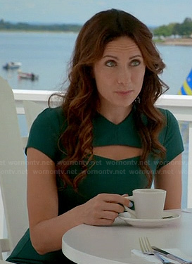 Shelby's green cutout dress on Royal Pains