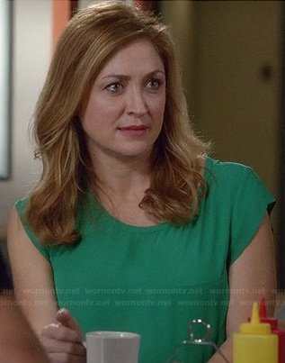 Maura's kelly green top on Rizzoli and Isles