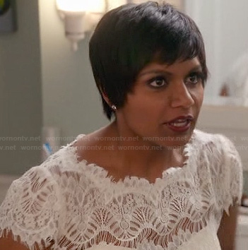 Mindy Kaling's wedding dress on the Mindy Project