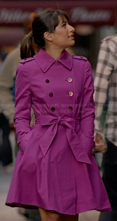 Rachel's magenta pink trenchcoat on Glee