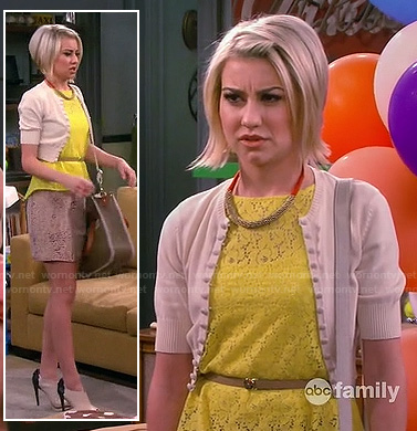 Riley's yellow lace top on Baby Daddy