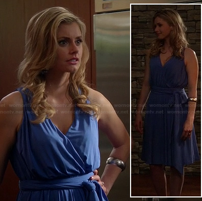 Taylor's blue wrap dress on Devious Maids
