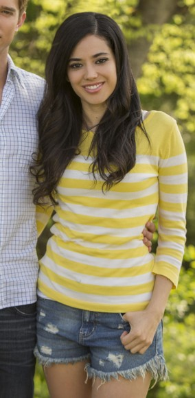 Valentina's yellow striped tee on Devious Maids