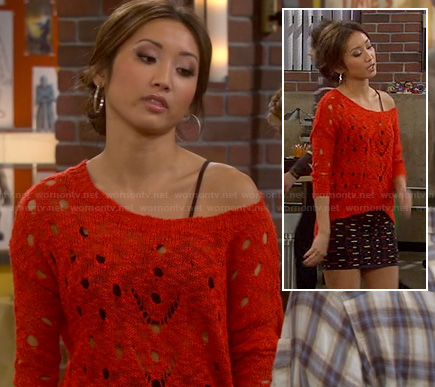 Veronica's red torn/distressed sweater on Dads