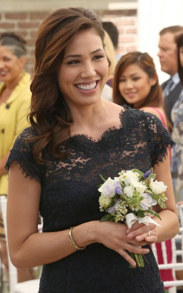 Angela's bridesmaid dress on Bones