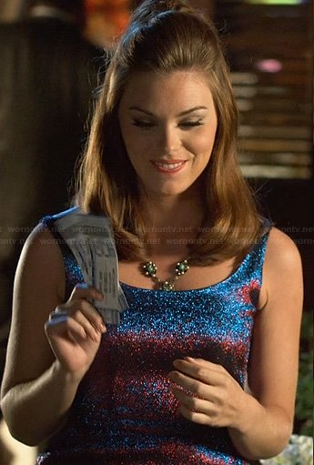 AnnaBeth's blue and red glittery dress on Hart of Dixie