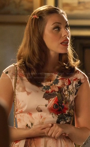 Annabeth's pink floral dress on Hart of Dixie