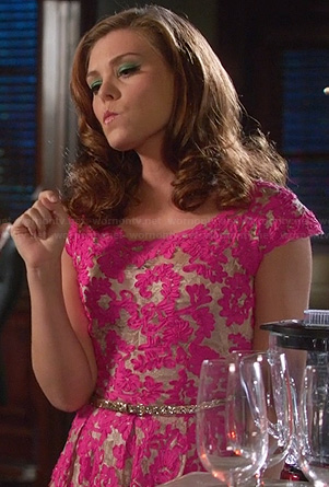 AnnaBeth's pink lace dress on Hart of Dixie