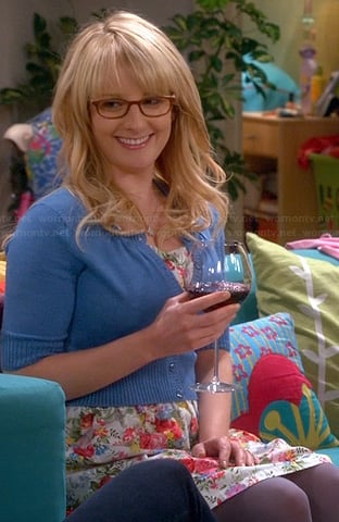 Bernadette's white floral dress on The Big Bang Theory