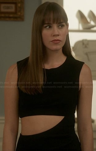 Charlotte's black cutout gown on Revenge