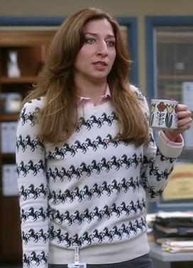 Gina's horse sweater on Brooklyn Nine-Nine
