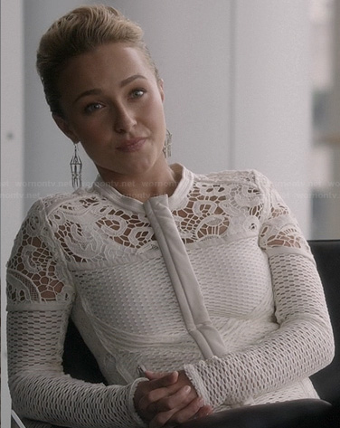 Juliette's white lace jacket on Nashville