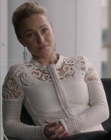 Juliette's white lace jacket on Nashville