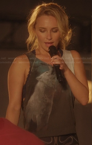 Juliette's wolf tank top on Nashville