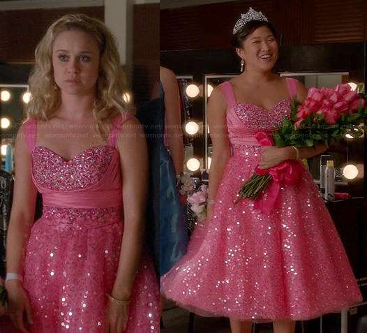 Kitty's pink prom dress on Glee
